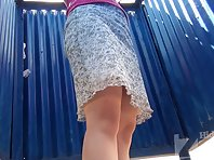 Bc1577# The girl in pink panties with a bow takes them right in front of our hidden camera. Beauti