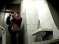 Wc126# Voyeur video from toilet