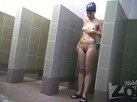 Sh2054# Voyeur video from shower room.