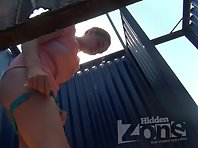 Bc2143# The slender blonde quickly changed her panties. But our cameraman managed to shoot her shave