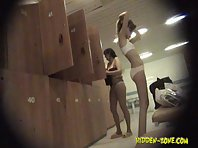 Lo1091# Voyeur video from locker room