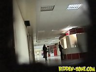 Wc573# Voyeur video from toilet