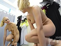 Sp2280# The naked blonde stands facing the hidden camera. Her young body is excellent! Watch and enj