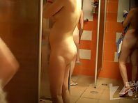 Sh1241# Pregnant girl lathers her beautiful body right acros