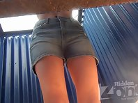 Bc1948# Curly babe with big tits took off her panties right in front of our hidden camera. Big tit