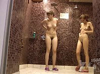 Sh1623# Two girlfriends take a shower. We have clearly seen their elastic tits and hairy pussy. A fa