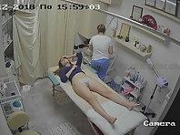 Spy camera in the cosmetic salon.