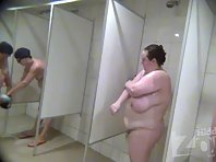 Sh1888# Our agents carried into the women's shower hidden camera. Now everything that before you onl