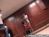 Lo160# Voyeur video from locker room