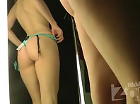 Sp2181# The girl tries on very sexy underwear. She obviously wants to please her boyfriend. Apparent