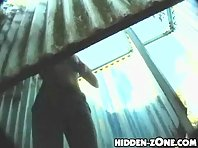 Bc261# Hidden camera in the beach cabin