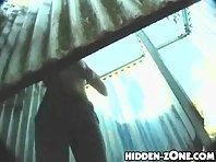 Bc261# Hidden camera in the beach cabin