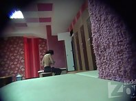 Lo1365# The lens of our locker room voyeur cam young beautiful girl. She dresses up before the fit