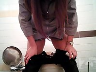 Wc1811# In this video, Girls toilets hidden cams recorded, almost like a girl pissing standing up,