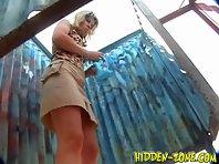 Bc468# Hidden camera in the beach cabin