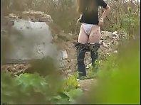 Wc491# Voyeur video from toilet