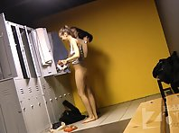 Lo1696# We hid in the locker room locker room voyeur cam. Wonderful views of nude girls will not l