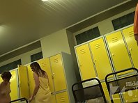 Lo1361# Young athlete wiped after a shower. She wears underwear on her beautiful body. Our hidden