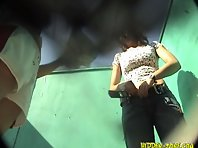 Bc643# Hidden camera in the beach cabin
