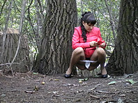 Outdoor pee voyeur