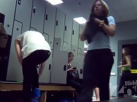 Lo1531# The focus of the Locker room voyeur cam cute blonde. She appeared fully clothed and step b