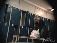 Lo1272# Blonde takes off her jeans, tights, and finally her panties. Observe this process can be i