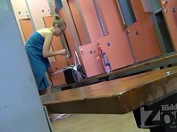Lo1414# Young girls dress up in the corner. But even there, our Locker room voyeur cam was able to