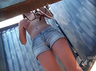 Bc1662# Young tanned babe with a perfect figure. First we see her beautiful firmer breasts, then s