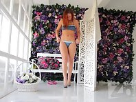 Sp2032# In the basket with flowers hidden second camera. It allows you to take close-ups. Tits and a