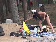 Nu1405# Company of swingers nudists continues to discuss their plans for the evening. Who will fuc