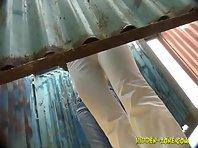 Bc705# Hidden camera in the beach cabin