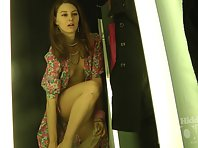 Sp2173# Another beauty came to the store of underwear. She does not know that in the fitting-room we
