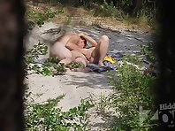 Nu1797# The couple has sex in nature. Male several times already stared in the direction of our oper