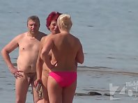 Nu1714# Two women slightly older something talk about. A completely naked another topless. It is v