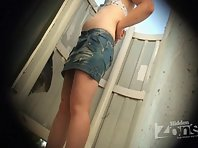 Bc1643# The girl with a small tummy, breasts and a nice seductive tousled by a pussy. This Beach c