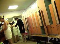 Lo1419# The lens locker room voyeur cam there is a young girl. She takes off her outer clothing, s