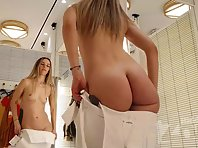 Sp2615# Watching a girl try on clothes is the dream of many men. You and I can admire this wonderful