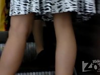 Up1722# Blonde in a wide white skirt. She stood legs spread wide. And I managed to make some great