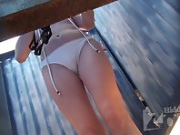 Bc2252# The girl with small tits disguises a swimsuit. Our spy cam photographed close-ups of her sma