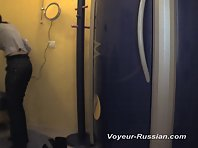 Pv266# In the solarium installed a hidden camera. We see how she takes off her clothes and is com