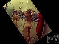 Sh1468# Hidden cam shower turned her attention to other girls. Blonde and brunette take a shower i