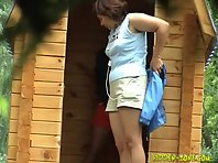 Wc1071# Voyeur video from toilet