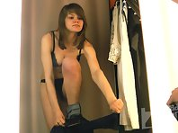 Sp2150# A new girl in a fitting room. She immediately pleased us with her big tits. A lot of interes