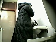 Wc62# Voyeur video from toilet