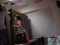 Lo1381# In this video, just two girls - one slender began to undress, and the other with a chic hi