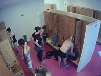Lo1846# The camera in the fitness club is a great success for lovers of voyeur. We managed to get th