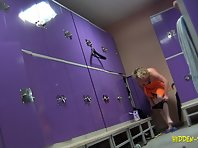Lo1123# Voyeur video of female changing rooms in a fitness center