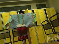 Lo1356# Young athlete wiped after a shower. She wears underwear on her beautiful body. Our locker