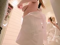 Sp2319# In the process of fitting, the beauty several times changed her panties. We managed to see h