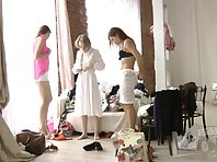 Sp1902# Into the studio of the model agency hidden a spy sex cam. It's secretly filmed the girls w